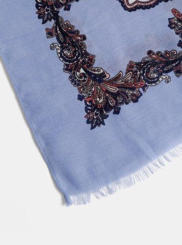 Modrý vzorovaný šátek Dorothy Perkins
