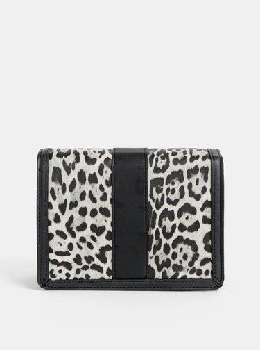 Šedá crossbody kabelka s leopardím vzorem Dorothy Perkins