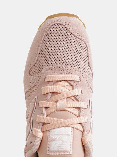 Růžové dámské semišové tenisky New Balance 373