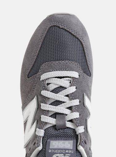Šedé dámske semišové tenisky New Balance 996