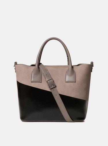Černo-béžová kabelka s potiskem Desigual