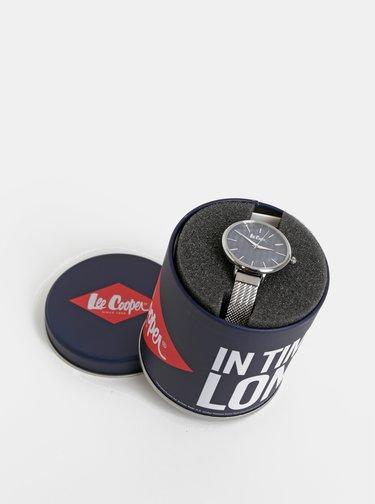 Dámske hodinky s kovovým remienkom v striebornej farbe Lee Cooper