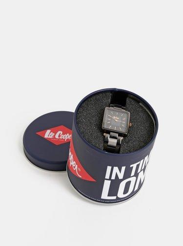 Dámske hodinky s čiernym kovovým remienkom Lee Cooper
