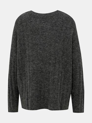 Tmavošedý sveter s prímesou vlny Jacqueline de Yong Nine