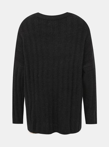 Černý svetr s příměsí vlny Jacqueline de Yong Nine