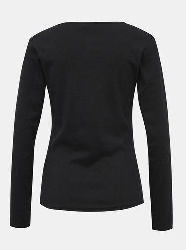 Čierne dámske basic tričko Haily´s Donna