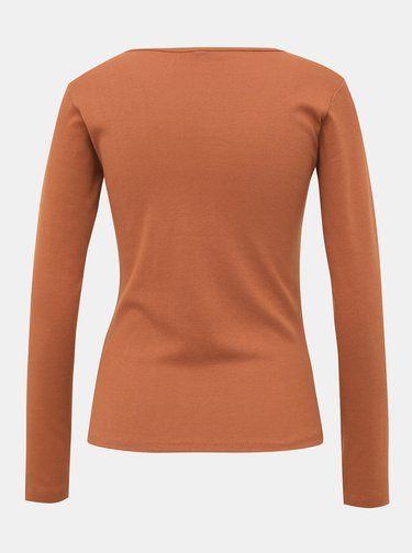 Hnedé dámske basic tričko Haily´s Donna