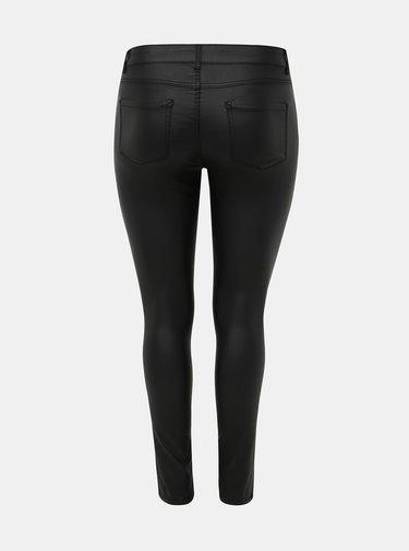 Čierne koženkové skinny fit nohavice ONLY CARMAKOMA Punk