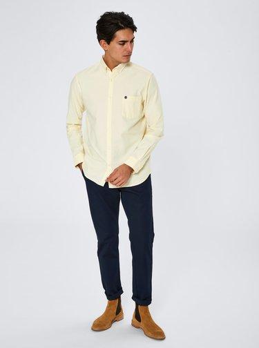 Světle žlutá regular fit košile Selected Homme Collect