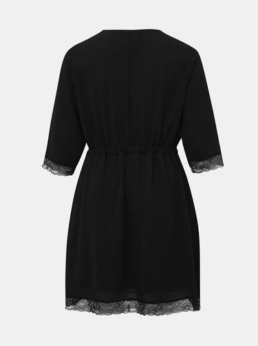 Čierne šaty s krajkou Zizzi Philia