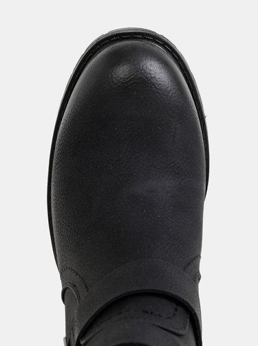 Čierne dámske členkové topánky Tom Tailor