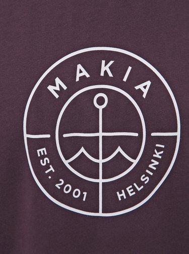 Fialové pánské tričko s potiskem Makia Scope
