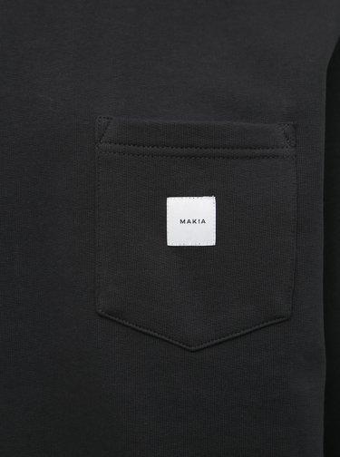 Čierna pánska mikina s vreckom Makia Square Pocket
