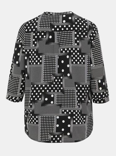 Čierna vzorovaná blúzka Dorothy Perkins Curve