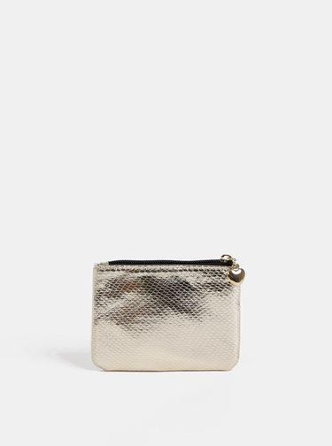 Metalická peněženka ve zlaté barvě Dorothy Perkins