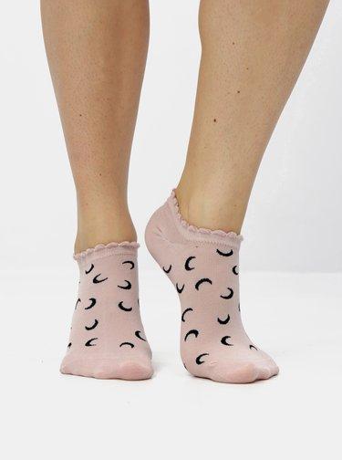 Sada troch párov ponožiek v čiernej, bielej a staroružovej farbe TALLY WEiJL