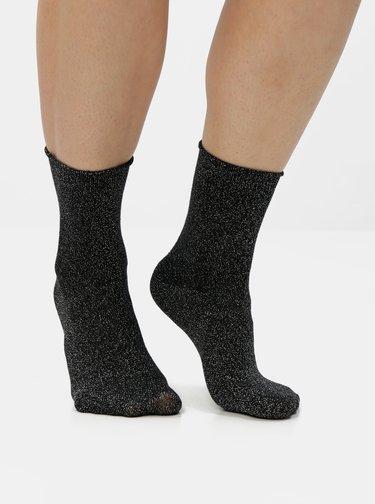 Čierne metalické ponožky VERO MODA Glitter