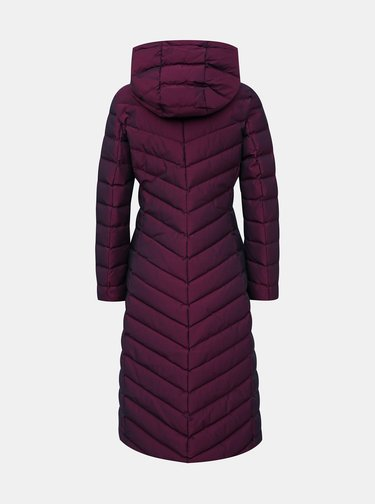 Vínový dámský voděodpudivý prošívaný zimní kabát Geox Seyla