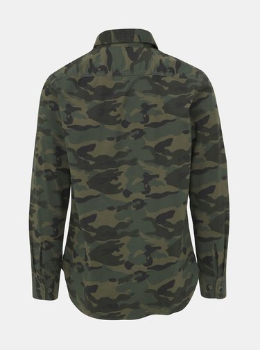 Khaki maskáčová košile Jack & Jones Teo