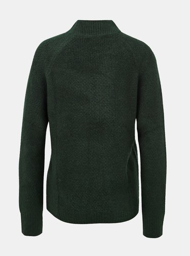 Tmavě zelený svetr Jacqueline de Yong Crystel
