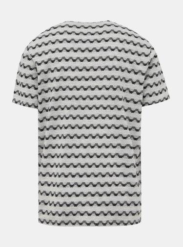 Šedé vzorované tričko ONLY & SONS Maxwell