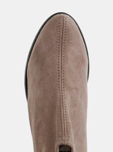 Šedé kotníkové boty v semišové úpravě OJJU