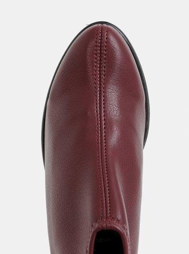 Vínové kotníkové boty OJJU