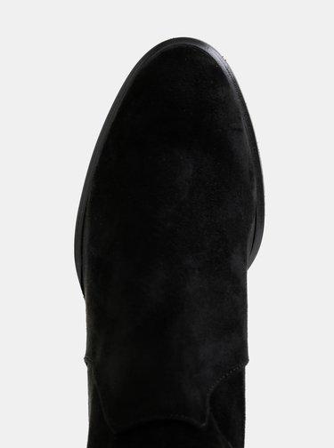 Černé kozačky v semišové úpravě OJJU