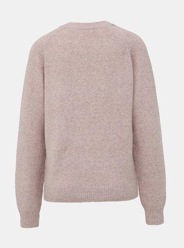 Staroružový basic sveter VERO MODA Doffy