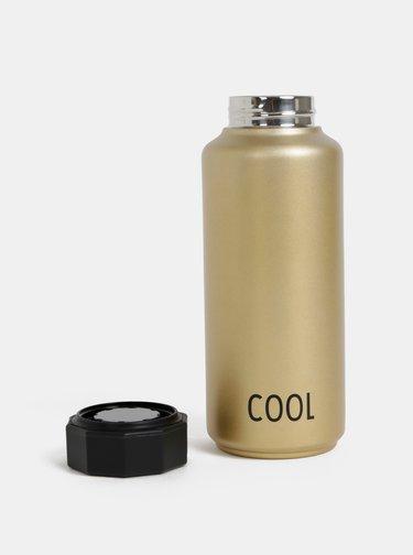 Termo láhev ve zlaté barvě Design Letters Cool 500 ml