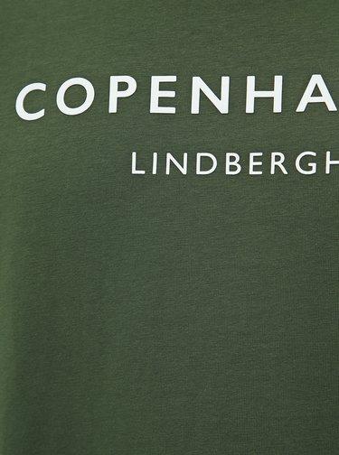 Zelené tričko s potiskem Lindbergh