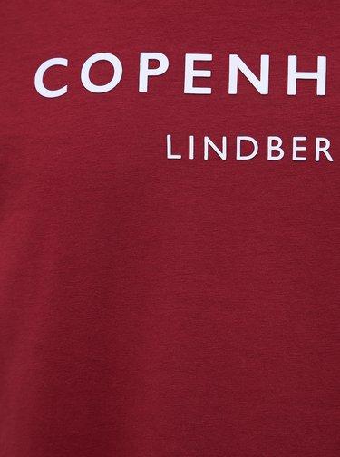 Červené tričko s potiskem Lindbergh