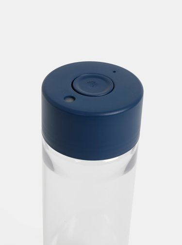 Plastová fľaša s tmavomodrým viečkom Frank Green 740 ml