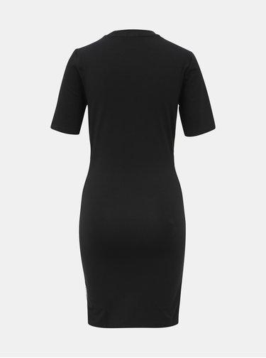 Čierne púzdrové šaty s pásom adidas Originals