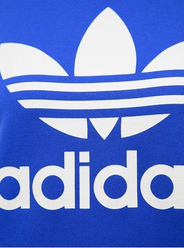 Modrá dámska mikina s potlačou adidas Originals