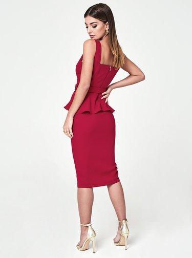 Červené pouzdrové šaty Paper Dolls