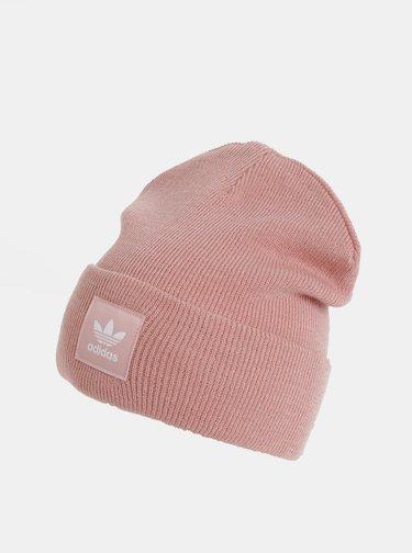 Růžová dámská čepice s nášivkou adidas Originals