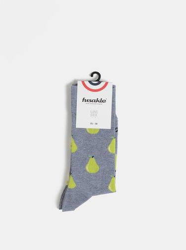 Šedé vzorované ponožky Fusakle Hruska