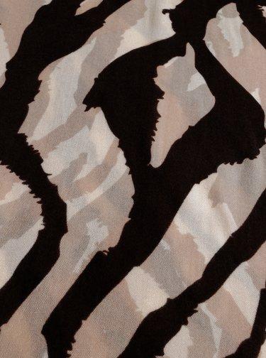 Béžový vzorovaný šátek M&Co