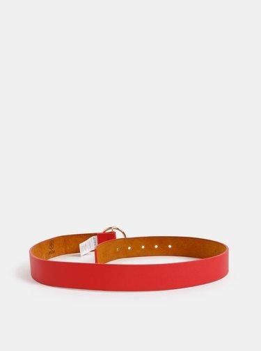Červený kožený pásek Haily´s Livia