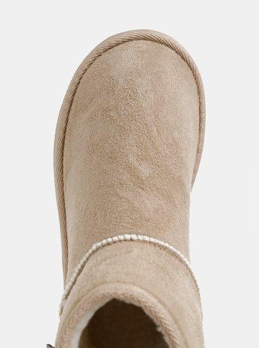Béžové dámske kotníkové čižmy v semišovej úprave Haily´s Celina