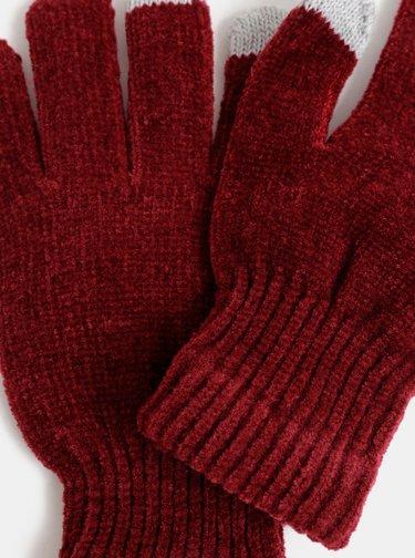 Vínové dámské dotykové rukavice Haily´s Sally
