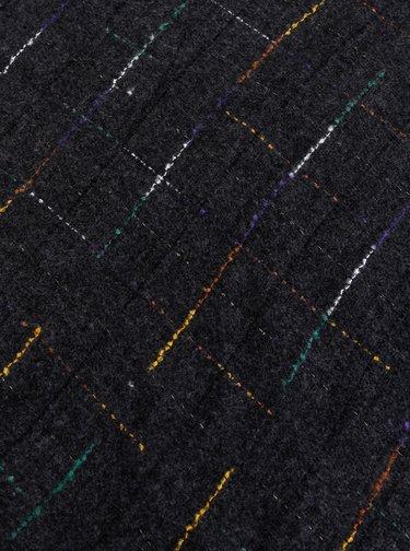 Tmavě šedá dámská kostkovaná šála Haily´s Savanna