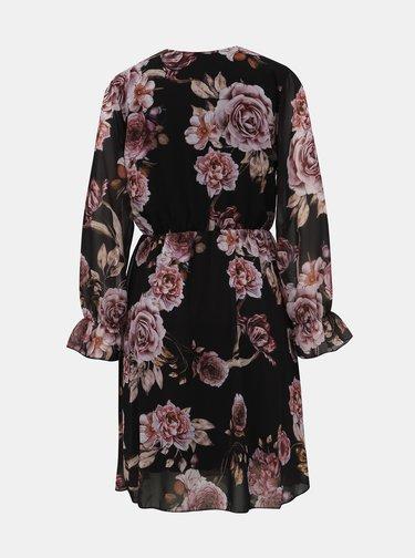Černé květované šaty Haily´s Marica
