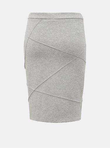 Svetlošedá púzdrová sukňa VILA Sif