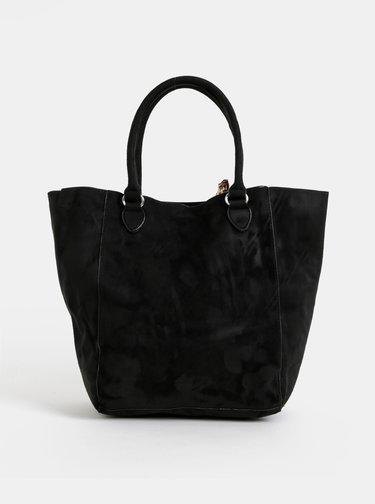 Čierny shopper v semišovej úprave Haily´s Olga