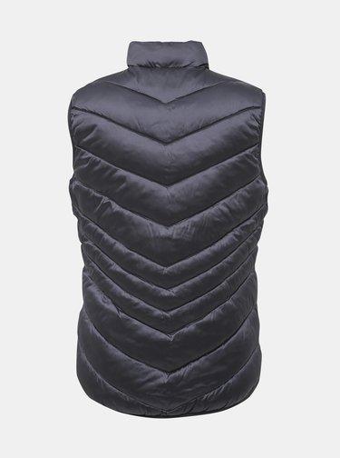 Tmavě šedá dámská prošívaná  vesta SAM 73