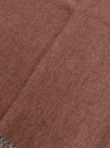 Šedo-růžová šála Pieces Chilary