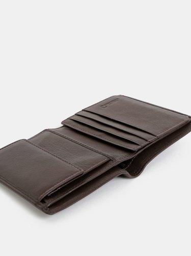 Tmavě hnědá pánská kožená peněženka Dice Braxton