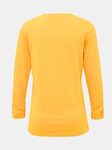 Horčicové dámske tričko SAM 73